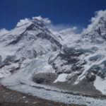 Mt Everest, Khumbhu Icefall and the Everest Base Camp